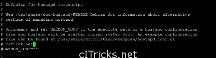 Daemon Configuration hostapd